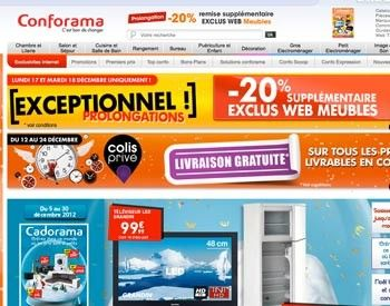 code promo conforama remise soldes 2014. Black Bedroom Furniture Sets. Home Design Ideas